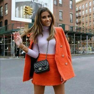 Zara Tweed Blazer BRIGHT JEWEL Gem BUTTON JACKET